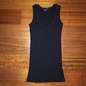 French Connection Black Ripped Tank Top